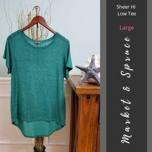 Market & Spruce | Sheer Hi Low Tee